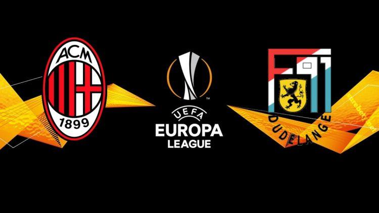 Milan vs Dudelange Europa League